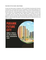amenities for the modern urban lifestyle puranik