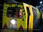 a driver steers a personel train in shaft 6 some