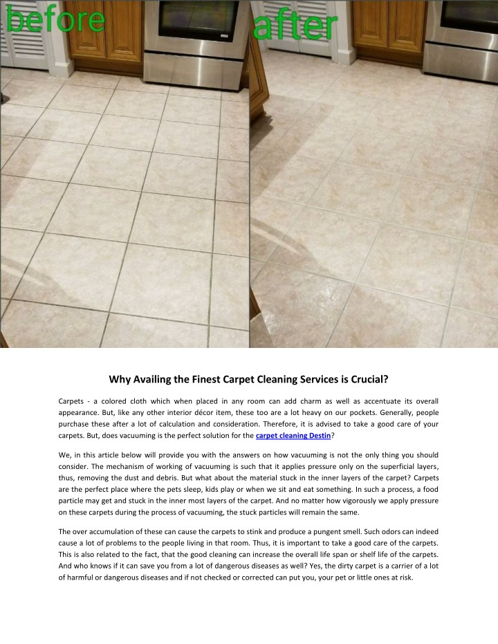 why availing the finest carpet cleaning services n.