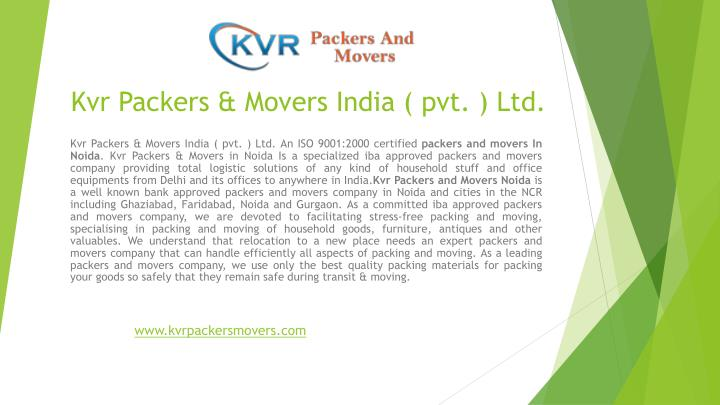 kvr packers movers india pvt ltd n.
