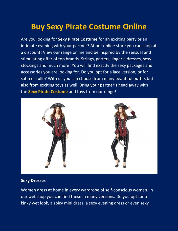 buy sexy pirate costume online n.