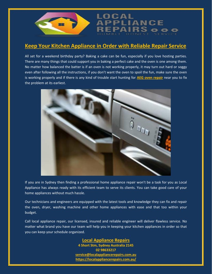 keep your kitchen appliance in order with n.