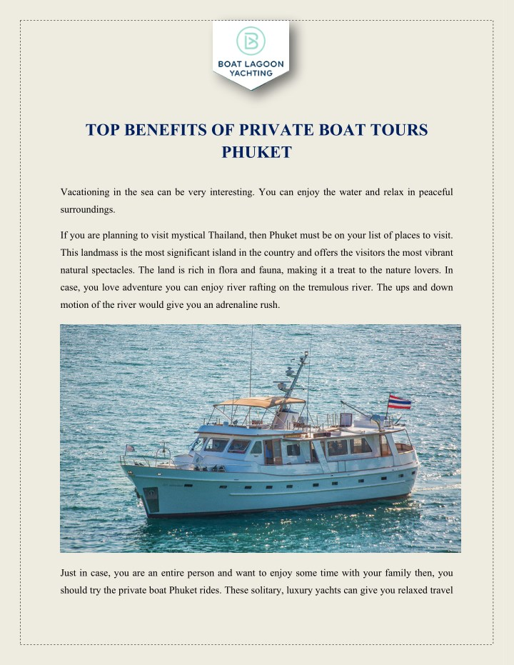 top benefits of private boat tours phuket n.