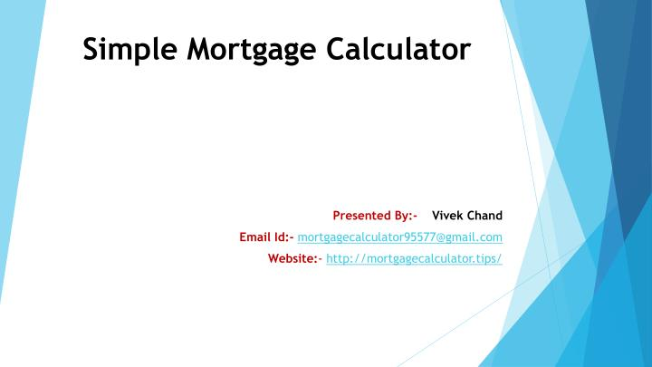 simple mortgage calculator n.