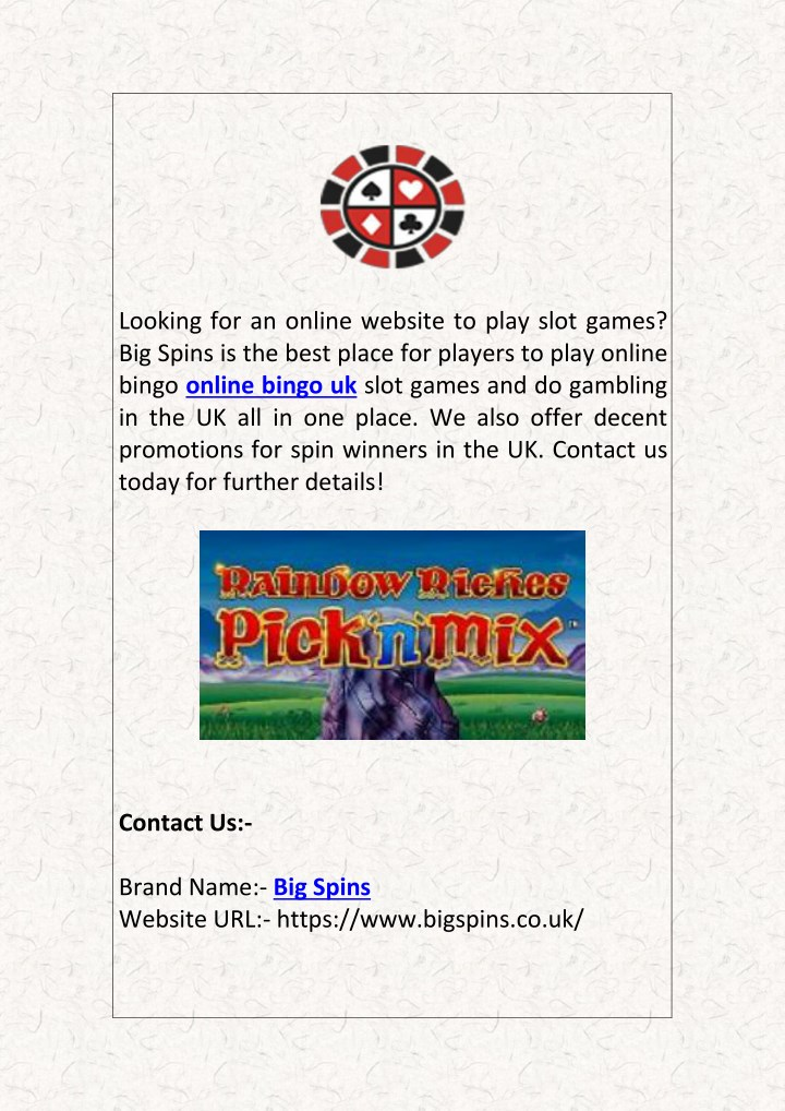 looking for an online website to play slot games n.