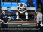 patriots quarterback tom brady sat on the bench
