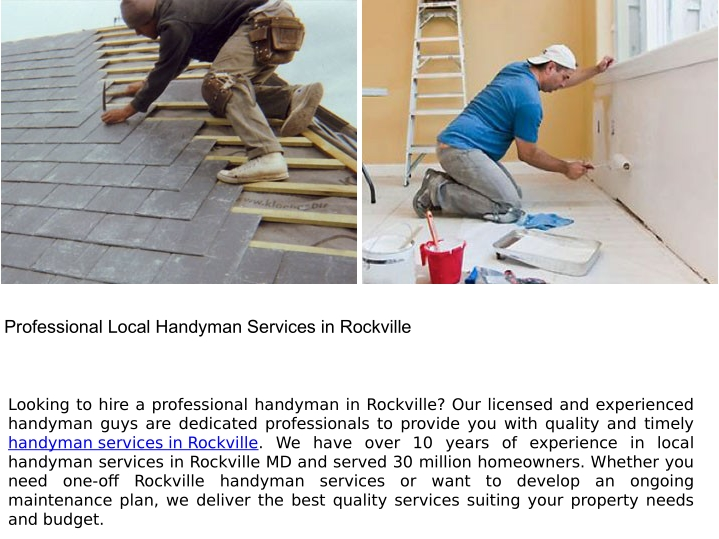professional local handyman services in rockville n.