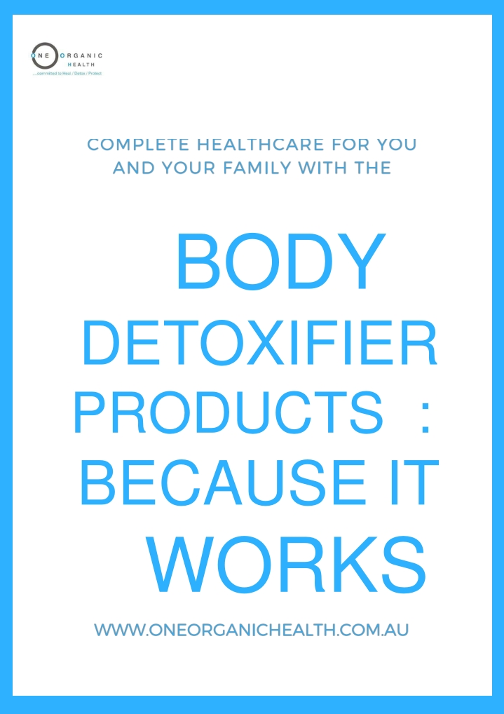 body detoxifier products because it works n.