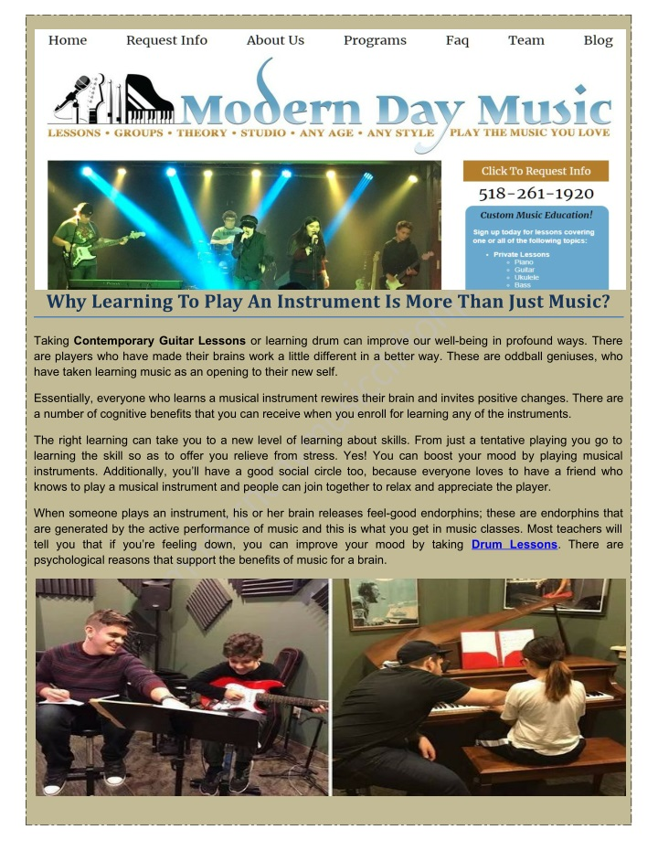 why learning to play an instrument is more than n.