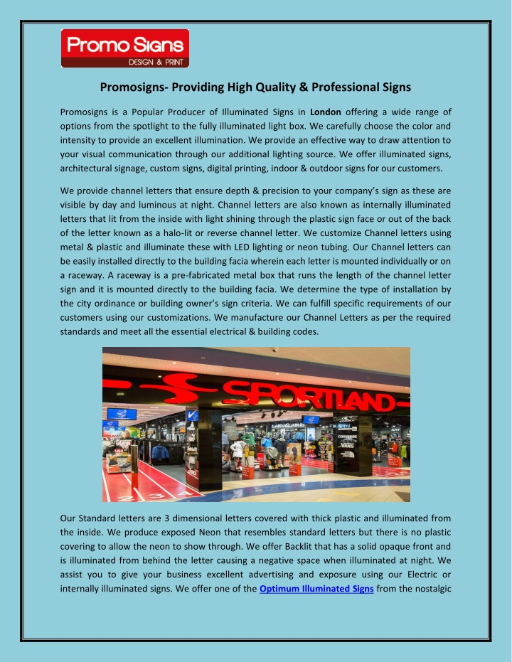 promosigns providing high quality professional n.