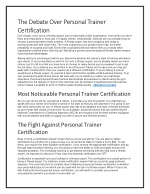 the debate over personal trainer certification
