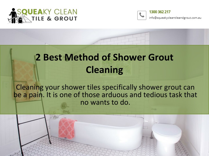 2 best method of shower grout cleaning n.