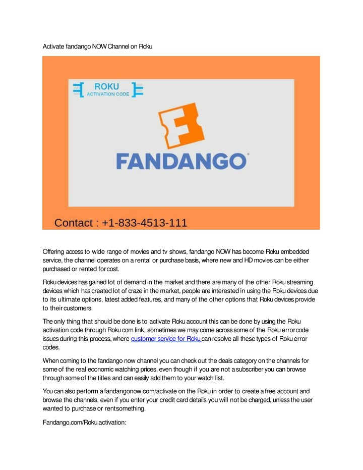 activate fandango now channel on roku n.