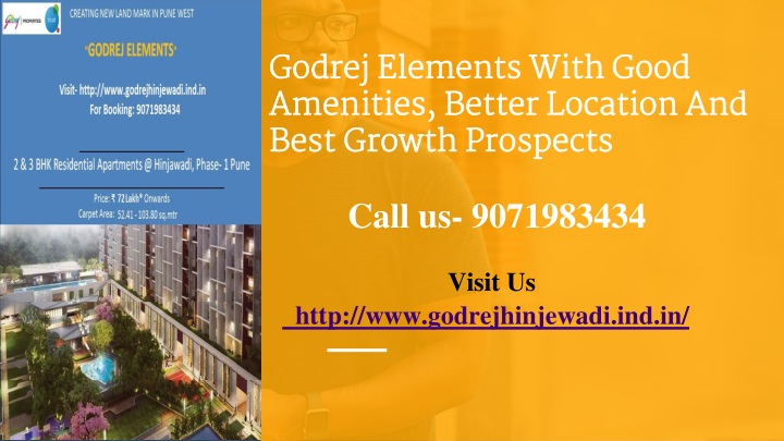 godrej elements with good amenities better location and best growth prospects n.