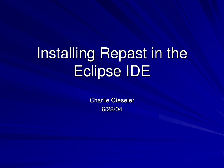 installing repast in the eclipse ide n.