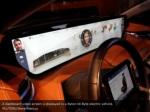 a dashboard video screen is displayed in a byton