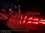 a display made of oled tail lamps is shown