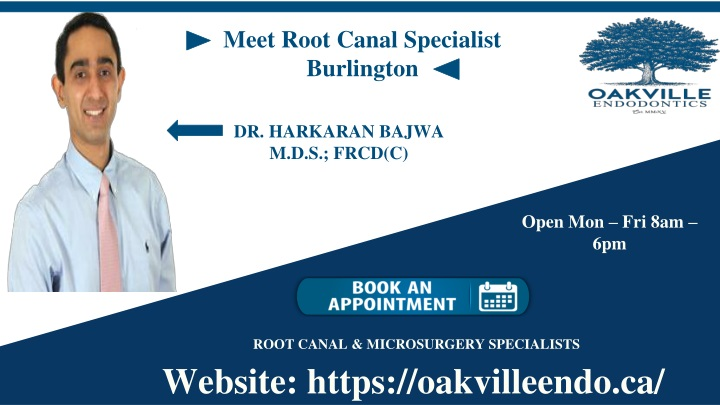meet root canal specialist burlington n.
