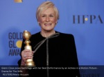 glenn close poses backstage with her best