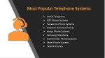 most popular telephone systems