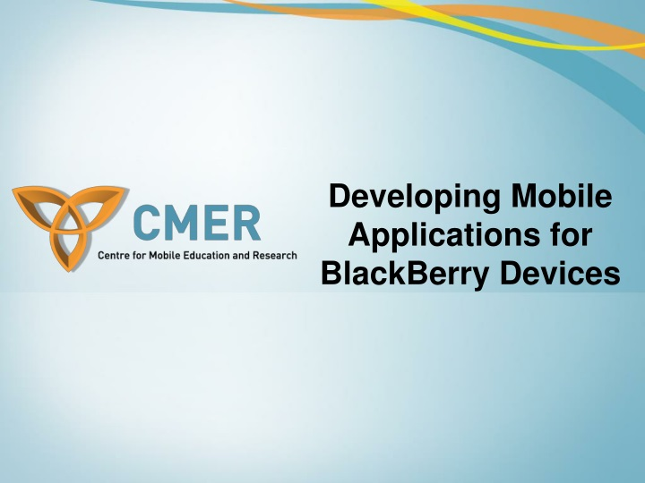 developing mobile applications for blackberry devices n.