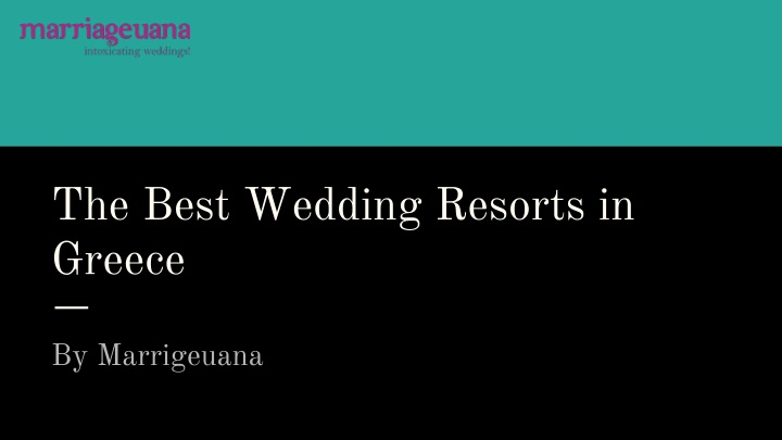 the best wedding resorts in greece n.