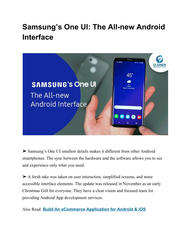 samsung s one ui the all new android interface n.