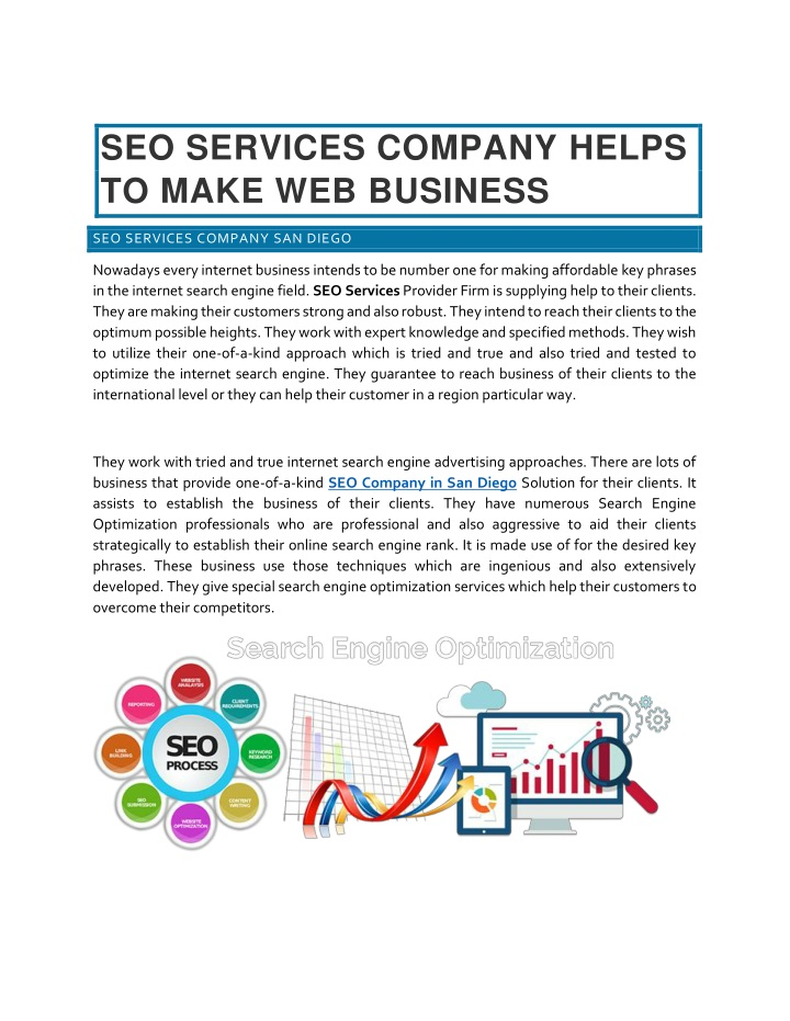 seo services company helps to make web business n.