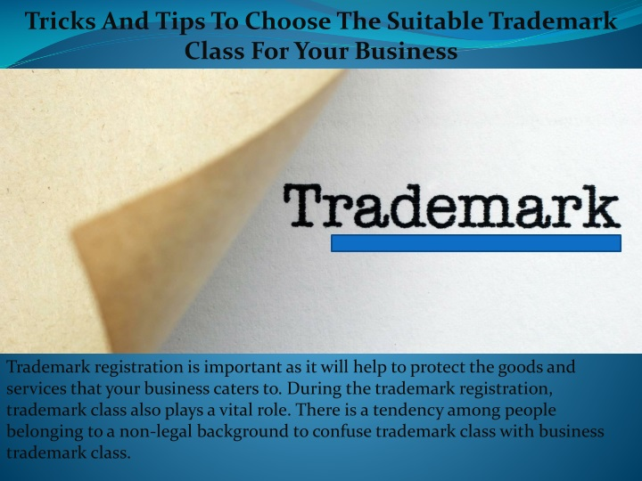 tricks and tips to choose the suitable trademark n.