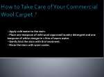 how to take care of your commercial wool carpet