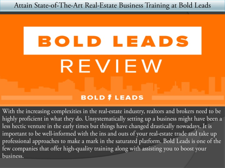 attain state of the art real estate business n.