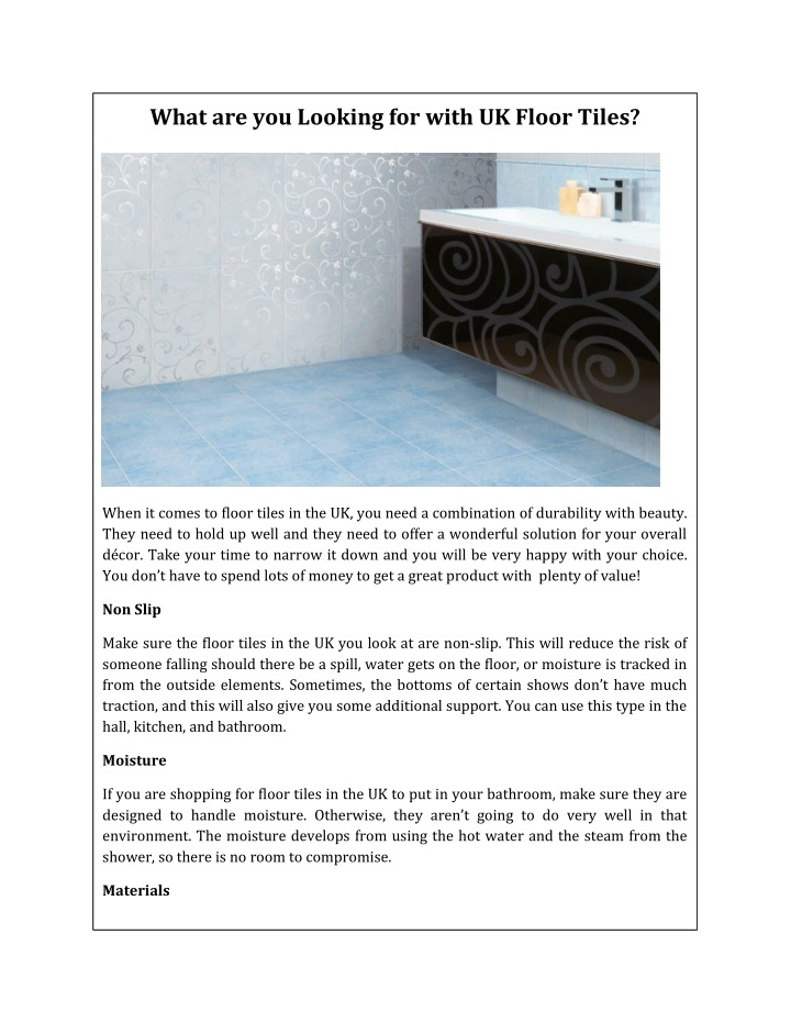 what are you looking for with uk floor tiles n.