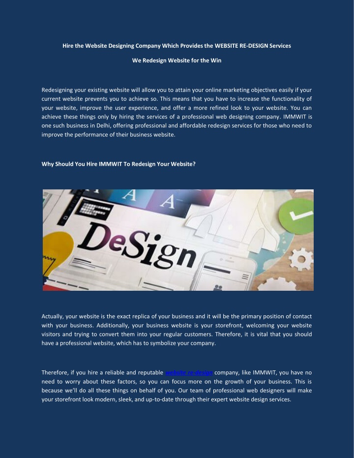 hire the website designing company which provides n.