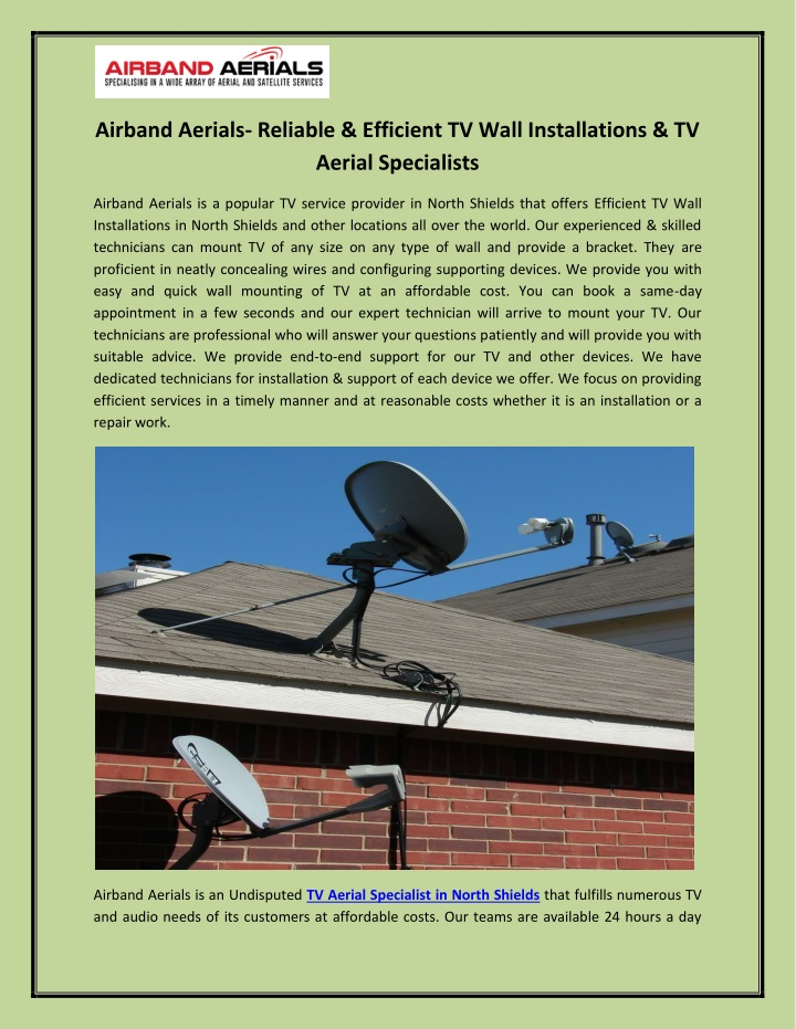 PPT Airband Aerials Reliable Efficient TV Wall