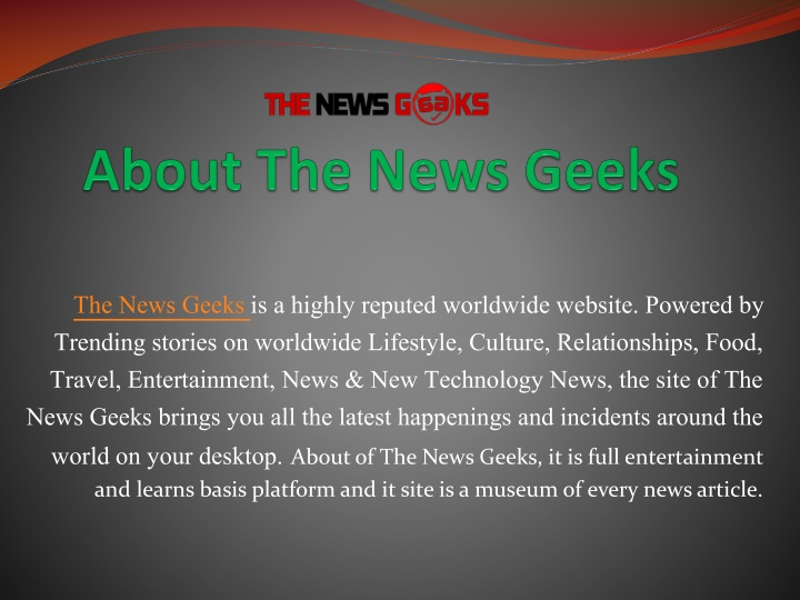 about the news geeks n.