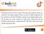doubtnut provide you free top iit jee app with