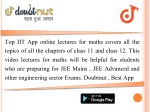 top iit app online lectures for maths covers