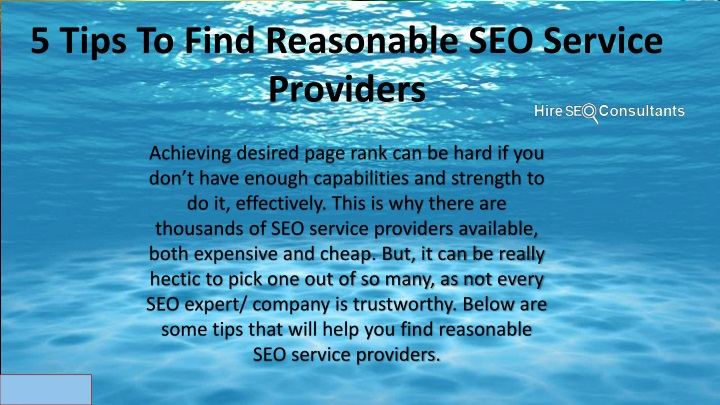 5 tips to find reasonable seo service providers n.