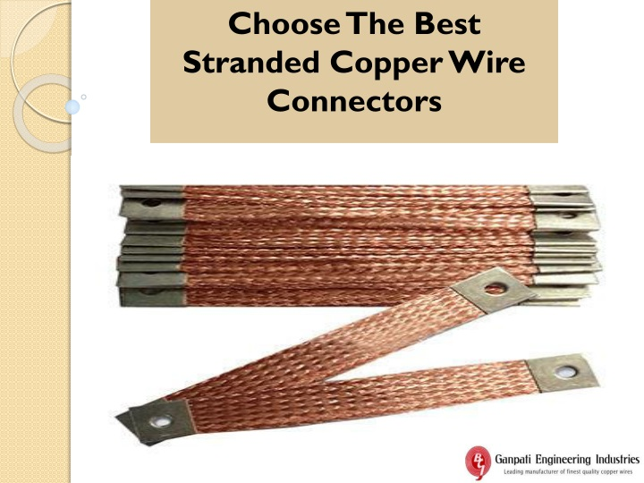 choose the best stranded copper wire connectors n.