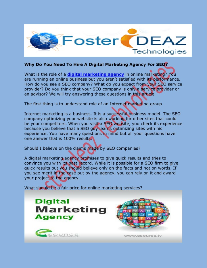 why do you need to hire a digital marketing n.