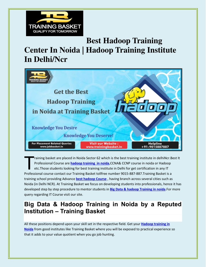 best hadoop training n.