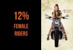 12 female riders