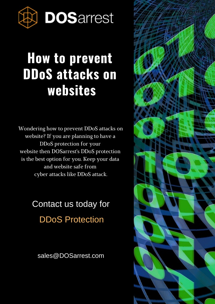 how to prevent ddos attacks on websites n.