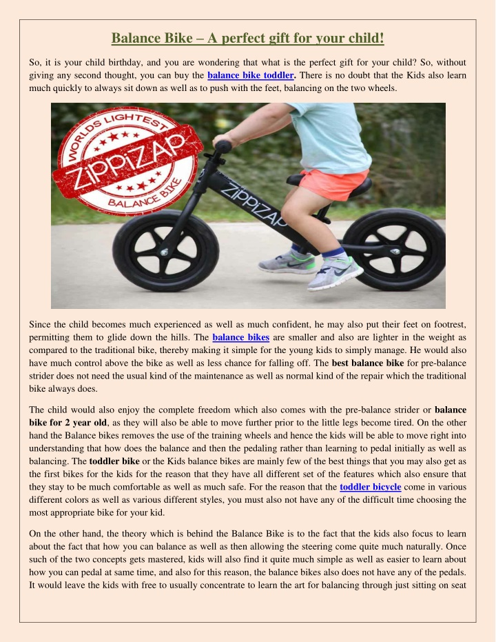 balance bike a perfect gift for your child n.
