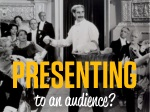 presenting to an audience
