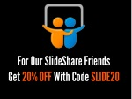for our slideshare friends get 20 off with code