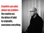 creativity can solve almost any problem