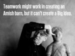 teamwork might work in creating an amish barn