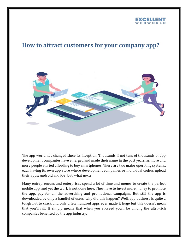 how to attract customers for your company app n.