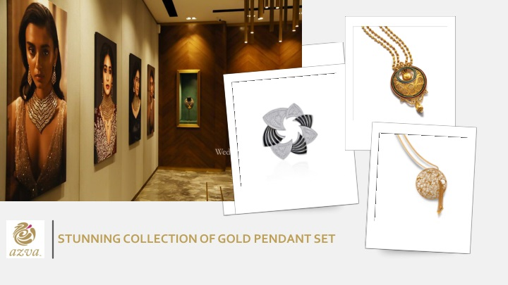 stunning collection of gold pendant set n.